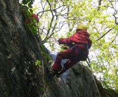 Abseiling at Ghyll Head