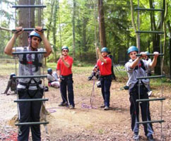 Pupils enjoying an outdoor activity day trip